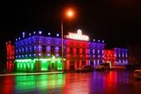 Наружное освещение: архитектурное освещение зданий, фасадов дома в Челябинске